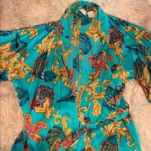 Vintage 100% silk robe